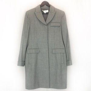 Oscar de la Renta for Neiman Marcus plaid coat